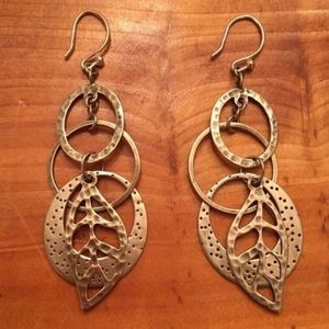 Silpada Hammered Sterling Silver Dangle Earrings
